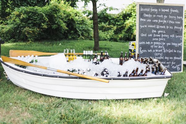 Rowboat filled with drinks!