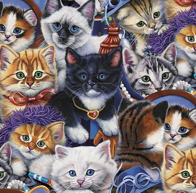 8bd40ada670 EZ Grip Dress Up Kittens 300 Piece Puzzle  This puzzle features cuddly  kittens all dressed up and ready to play. Big
