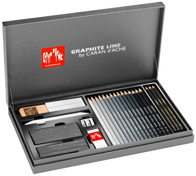 Caran D Ache Graphite Line Gift Box With 28 Pieces Reviews