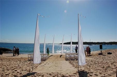 Bali wedding flags - for a beach ceremony where you can't really bring anything on the beach.