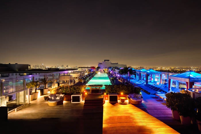 The Perry South Beach Hotel Rooftop Pool Lounge In Miami Fl Vice Pinterest Bar And