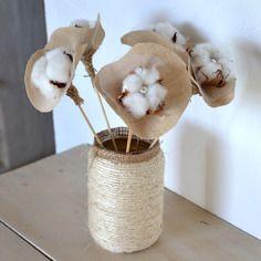bouquet lin toile de jute tulle et fleurs de coton peintures abstraites pinterest. Black Bedroom Furniture Sets. Home Design Ideas