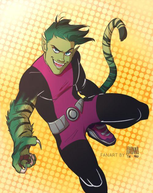 Teen Titans: Beast Boy - http://johannathemad.tumblr.com/post/161062333547/teen-titans-go
