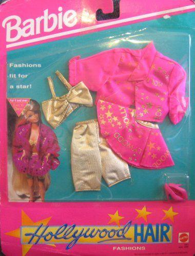 Amazon.com: Barbie - mody Hollywood włosów - Odzież Fit for a Star! (1992): Zabawki i gry