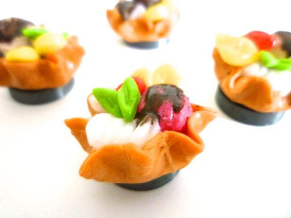 miniature ice cream dessert strawberry with fruits by ByAzalea, 5.00