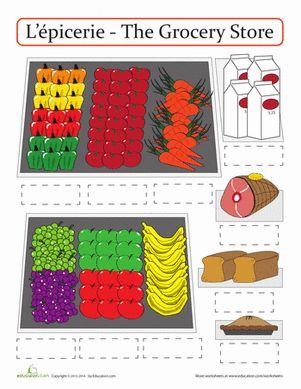 27 best french storytime nourriture food images on pinterest worksheets france and french. Black Bedroom Furniture Sets. Home Design Ideas