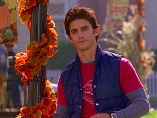 "Or when he stood around Stars Hollow looking all kinds of cute. | 36 Times Jess Mariano Completely Melted Your Heart On ""Gilmore Girls"""
