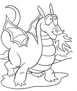 dragon coloring pages bing images - Dragon Coloring Page