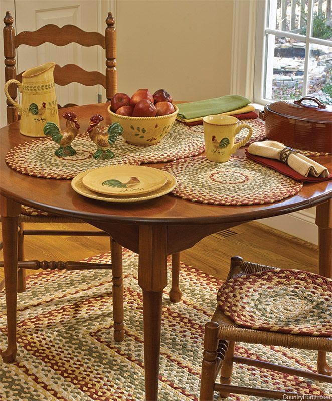 Park Designs Mill Village Braided Placemat & Tabletop