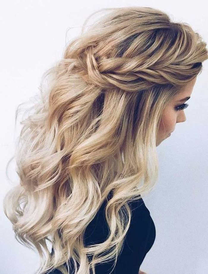 37 Beautiful Half Up Half Down Hairstyles For The Modern Bride Down Hairstyles Long Hair Styles Braided Hairstyles