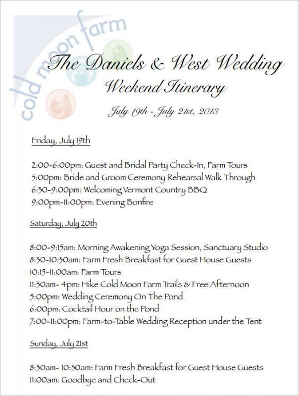 Wedding Weekend Itinerary Template Wedding Weekend Itinerary Wedding Itinerary Template Wedding Itinerary