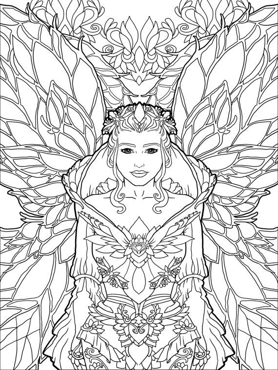 unicorn faerie coloring pages - photo#29