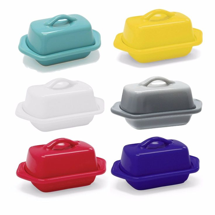 Chantal's mini butter dishes are as adorable as they are practical. Half the size of a traditional butter dish, the minis can sit at either end of the table for large, formal dinners or they can be passed around for smaller get-togethers. | eBay!