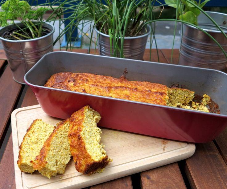 Zucchinikuchen Low Carb mit gemahlenen Mandeln