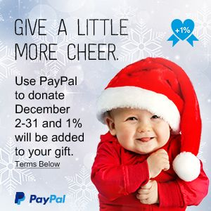 PayPal will help your donation dollars go further on #GivingTuesdayCa, and for all of December. PayPal will match 1% of all donations made through PayPal on CanadaHelps from December 2-31, 2014! #DonationMatching #CanadaHelps #PayPal