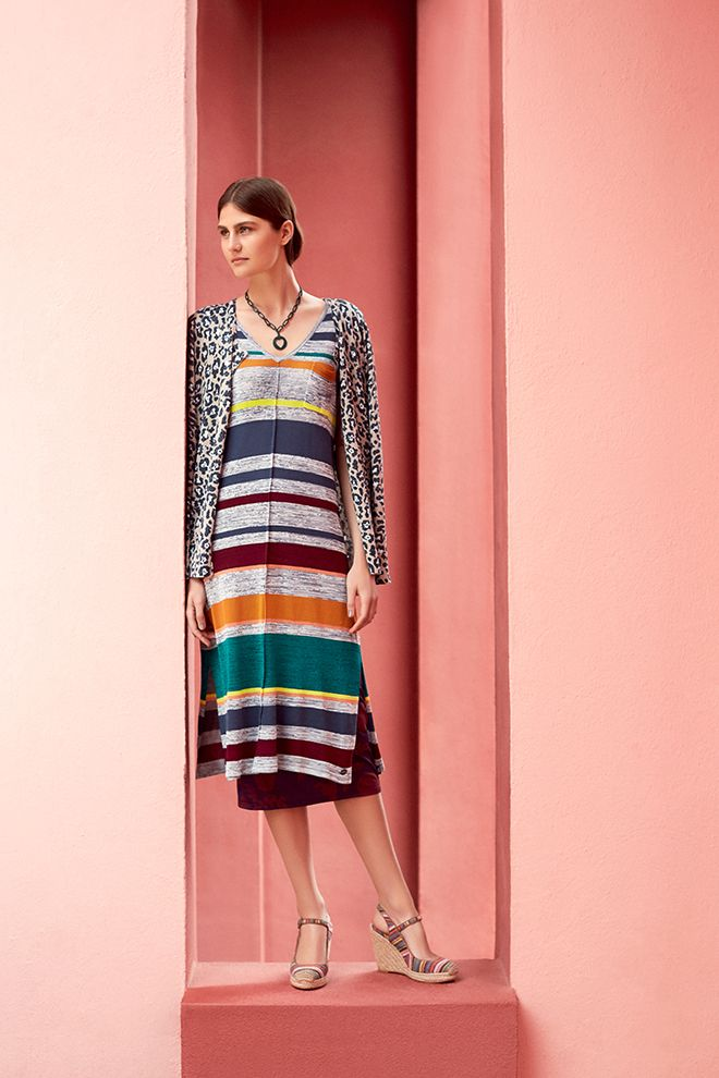 Campaign High Summer | Fashion | Colorful | Photography | Inspired |  Leopard Print Cardigan | Striped Dress