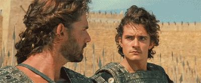 That time Paris of Troy was clearly expecting Aragorn instead of Eric Bana. | 11 Times Orlando Bloom's Legolas Was Showing