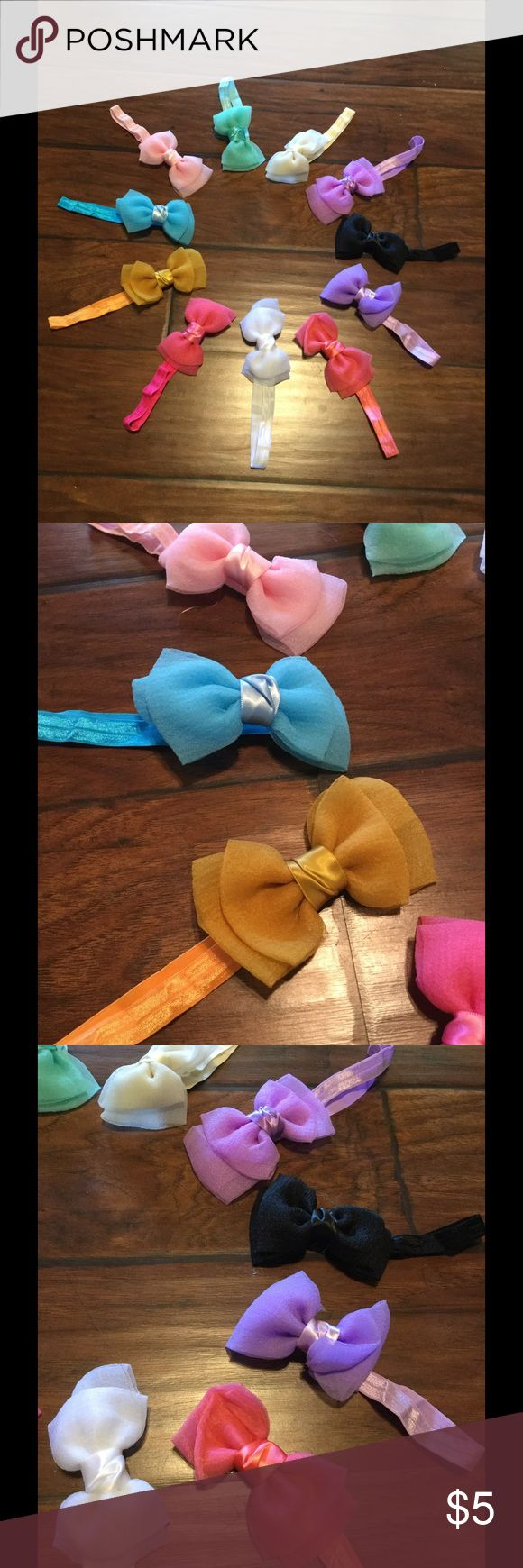 **SALE** 1 piece Beautiful baby ribbon headband Gorgeous baby /toddler ribbon headbands,m 11 beautiful colors to choose from.  Fits new born baby to 12 months.  $5 each, 2 for $7, 3 for $10, 4 for $12, 5 for $14, 6 for $16, 7 for $18, 8 or more for $20.  Please leave a message in comment for color choices, I will create a separate list for purchase. Accessories Hair Accessories