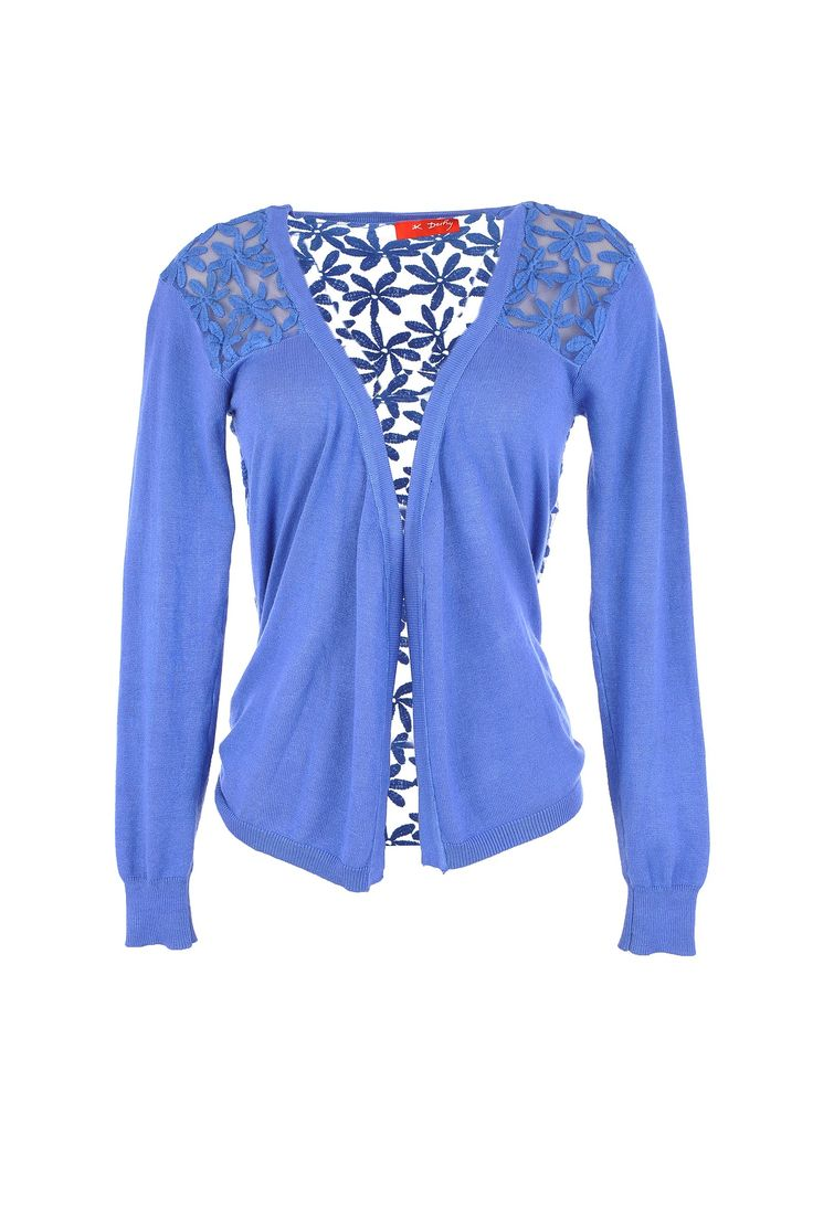 Blossom with this botanically-patterned blue cardi