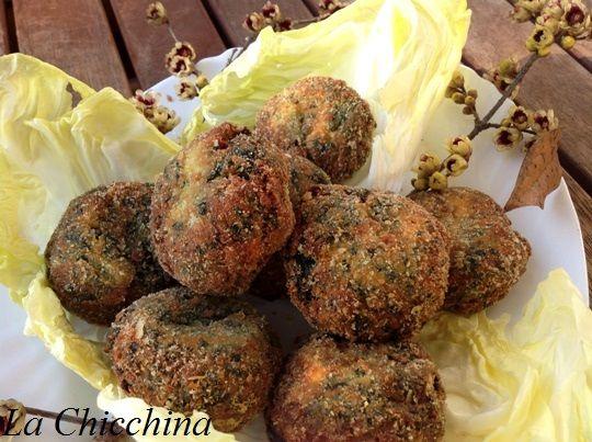 La Chicchina: Crocchette di spinaci #crocchette #spinach #spinaci #vegetarian #vegetarianrecipes