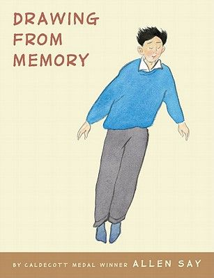 Drawing From Memory by Allen Say. Part graphic novel, part picture book, this memoir focuses on Say's life with his mentor, cartoonist Noro Shinpei. Despite PB size, it's best for slightly older readers- grades 3-5. (My 7th grader devoured it, too)
