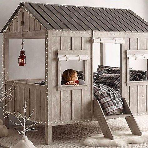 Kinderbett baumhaus  Die besten 25+ Kinderbett baumhaus Ideen auf Pinterest   Hochbett ...