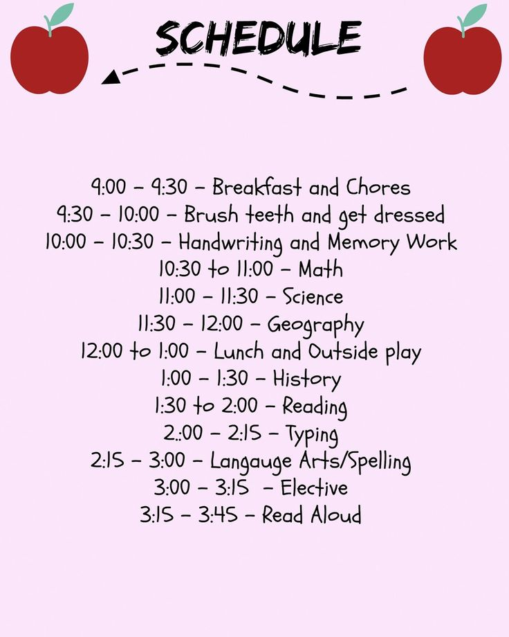 Hey Guys! This Is A Sample Of What Our Homeschool Schedule