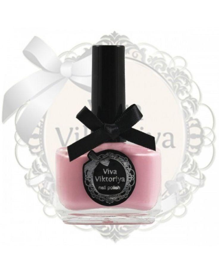181 Бледно-розовый кремовый оттенок. Лак для ногтей Viva Viktoriya