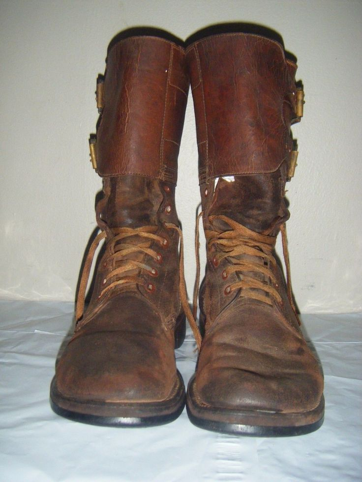 VINTAGE Russet Brown Combat US Army Boots Wingfoot Avon Du-Flex GoodYear sz 8 C in Clothing, Shoes & Accessories, Men's Shoes, Boots | eBay
