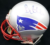Drew Bledsoe Autographed New England Patriots Full Size Authentic Proline Helmet Beckett BAS #B62235