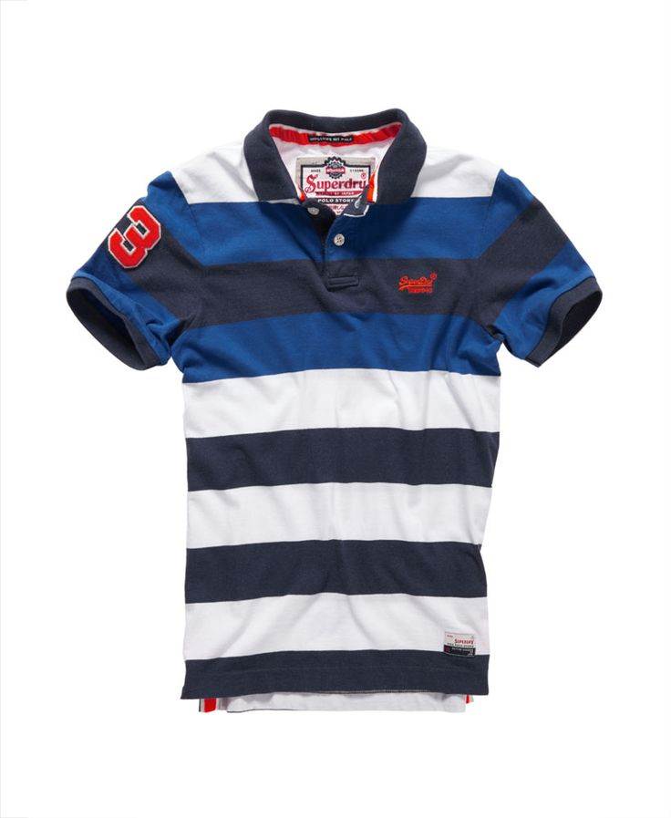 Sexiness Superdry Men Blue Polo Destroyed Pique Nautical Satisfactory
