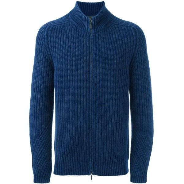Iris Von Arnim zipped cardigan ($1,565) ❤ liked on Polyvore featuring men's fashion, men's clothing, men's sweaters, blue, mens full zip sweater, mens zipper sweater, mens cashmere sweaters, mens zip cardigan sweater and mens blue sweater