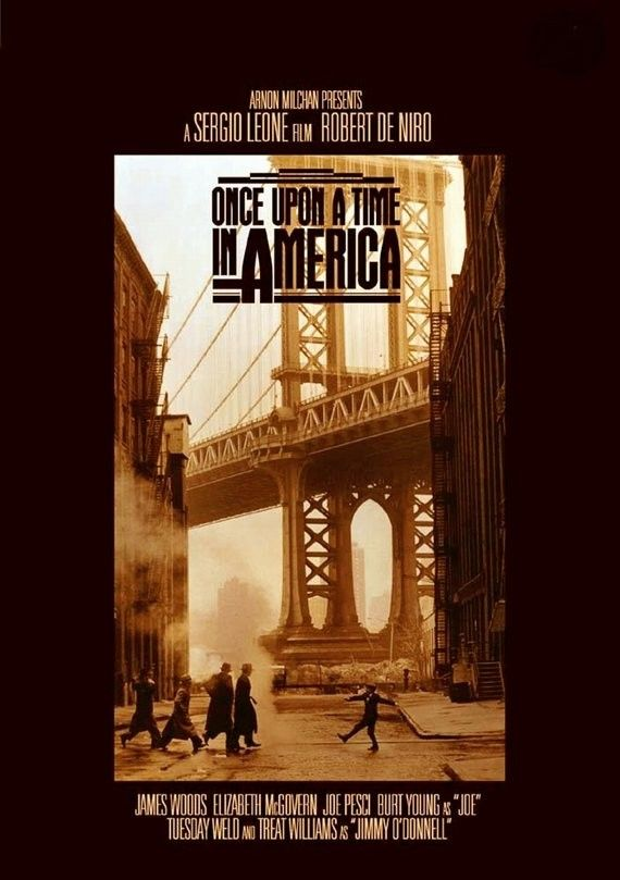 Once Upon a Time in America (1984) A former Prohibition-era Jewish gangster returns to the Lower East Side of Manhattan over thirty years later, where he once again must confront the ghosts and regrets of his old life. Director: Sergio Leone Stars: Robert De Niro, James Woods, Elizabeth McGovern