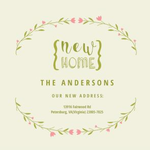 33 best housewarming party invitations images on pinterest floral arcs printable invitation template customize add text and photos print download stopboris Gallery