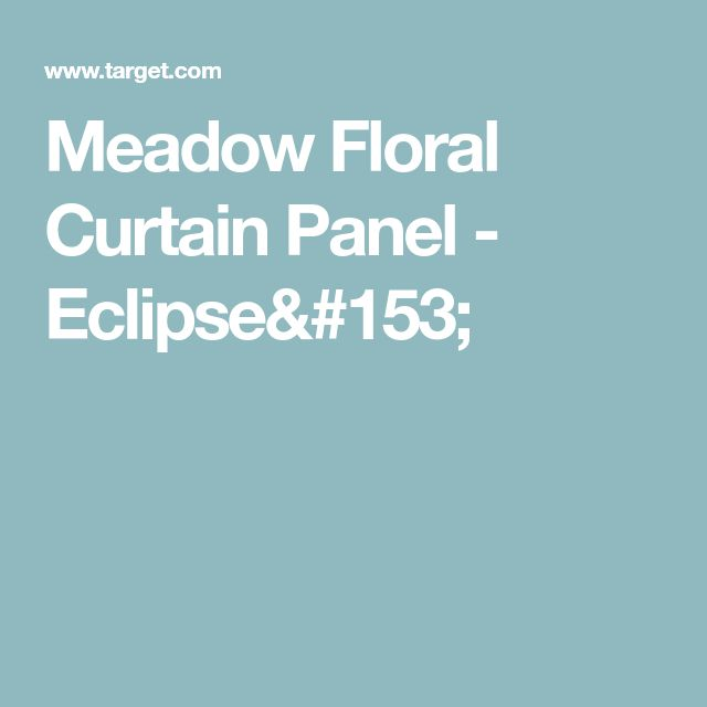 Meadow Floral Curtain Panel - Eclipse™