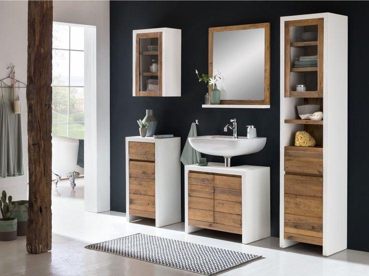 Badmobel Burnham Von Woodkings Bad Mobel Waschbeckenunterschrank Landhaus Weiss Design Holz Rustikal Pinie Badezimmer Idee Einrichten