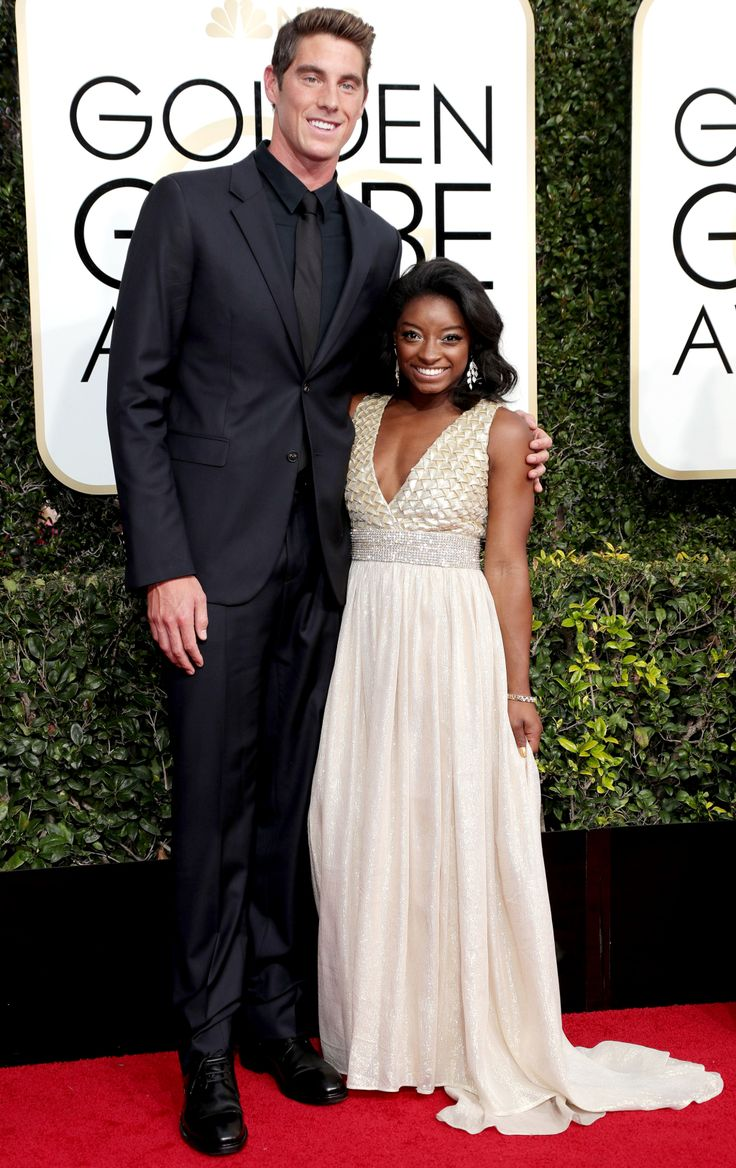 Simone Biles, 4-Foot-8, Takes Olympic Swimmer Conor Dwyer, 6-Foot-5, to the Golden Globes
