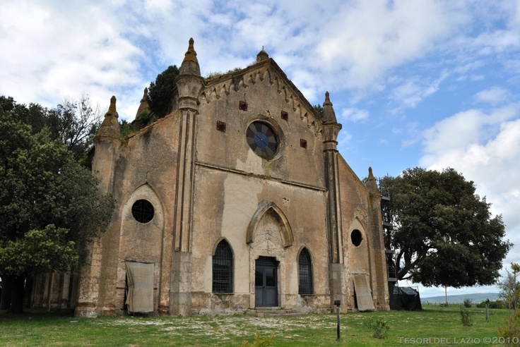#Allumiere (Roma), #Lazio - Borgo della #Farnesiana - Chiesa neogotica Immacolata Concezione - Photo G. Garofoli (05-2010) - © All rights reserved - Tesori del Lazio