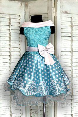 2b95dc0d63b06e7 Шикарное детское нарядное платье в горошек   Нарядные платья для ...