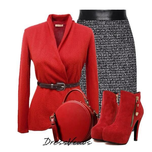 I love this combination!! Red and Charcoal Gray