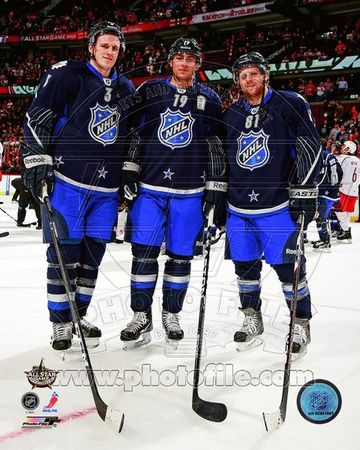 Toronto Maple leafs - Dion Phaneuf, Joffrey Lupul, Phil Kessel Photo