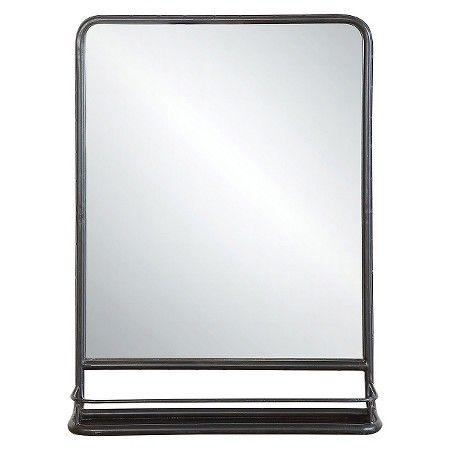 Metal Wall Mirror with Shelf : Target $115
