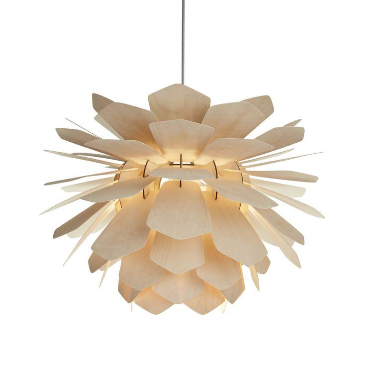 Lampa wisząca z drewna LA PIGNE NATURAL marki Woolights