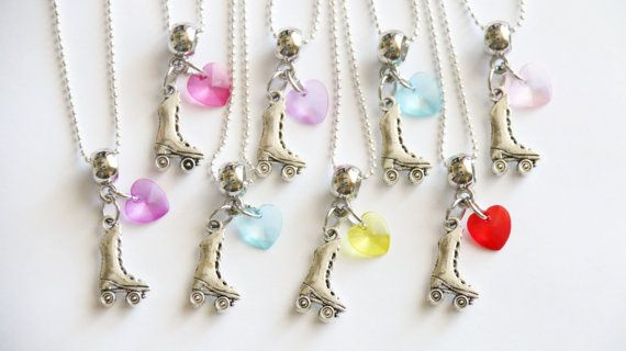 Roller Skating Party Favors 15 Necklaces Girl by boriville on Etsy
