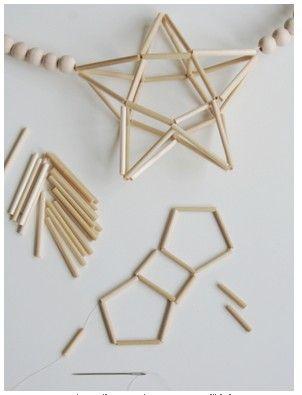 hand made star via http://stil-alluere.de/diy-himmeli-stern/