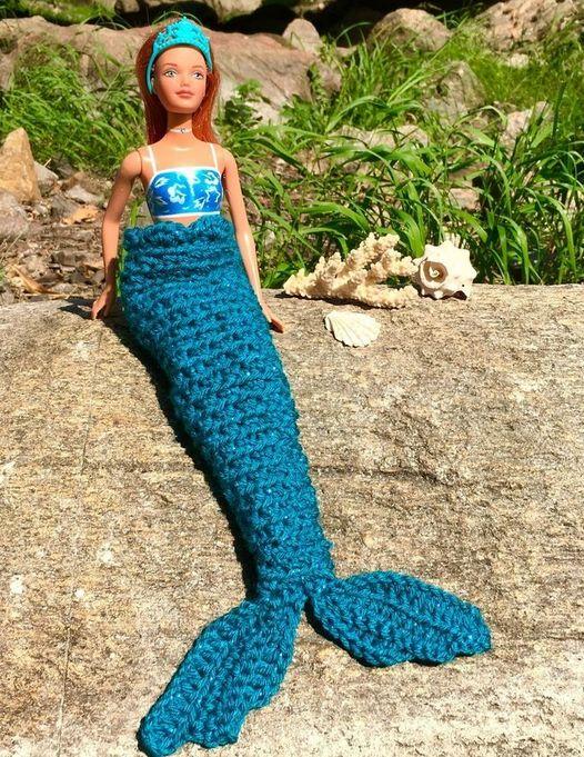 Meerjungfrauendecke für Barbies - Häkelanleitung via Makerist.de