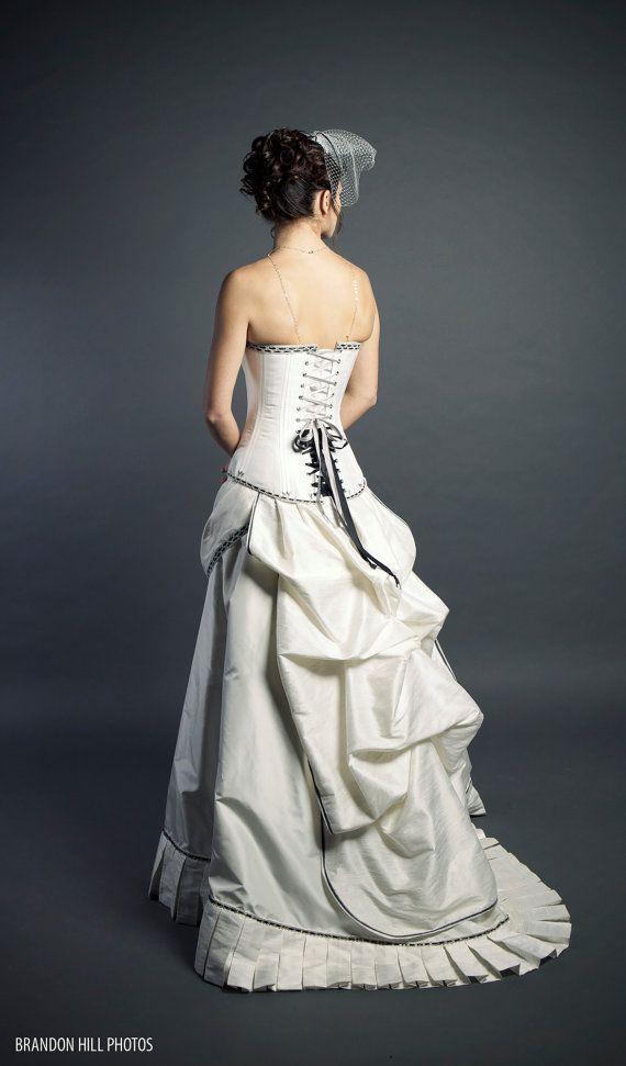 Steampunk wedding dress costumes pinterest for Steampunk corset wedding dress