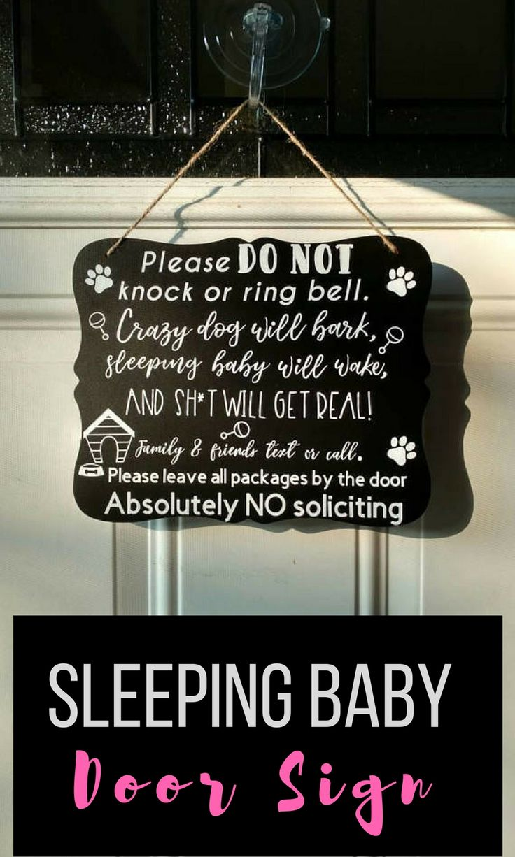Sleeping baby sign -do not disturb sign - no soliciting sign- baby sleeping door sign-baby sleeping sign- baby door signs - baby shower gift #ad #door #doorsign #outdoors #baby #babyshowergift