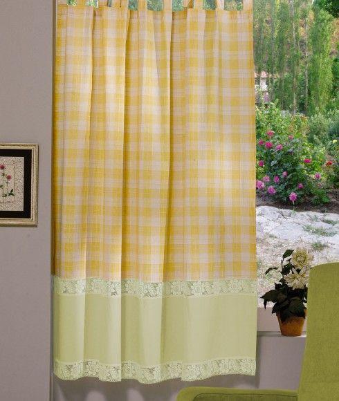 Perdea confecţionată Valentini Bianco PR009 Galben