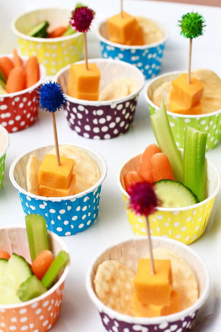 Healthy colorful treats - paint themed party - art party